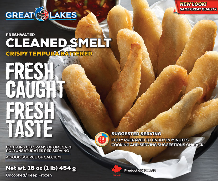 Packaging Battered Smelt